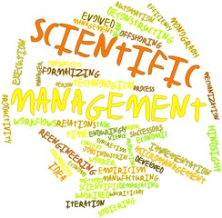Word cloud for Scientific management