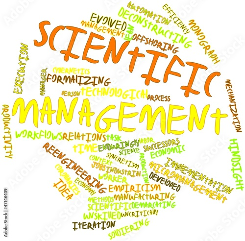 Word cloud for Scientific management