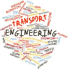 Word cloud for Transport engineering