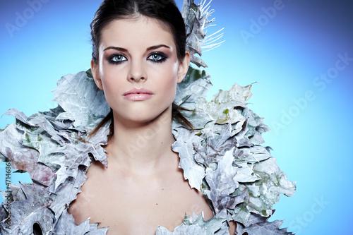 Winter Girl in Luxury fantasy Coat