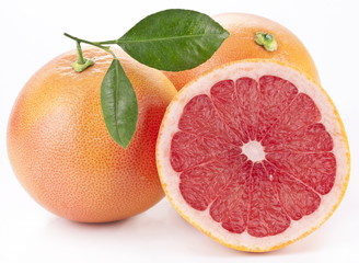 Grapefruit with slices.