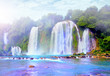 water fall in vietnam, Southeast asia water fall beautyful lands