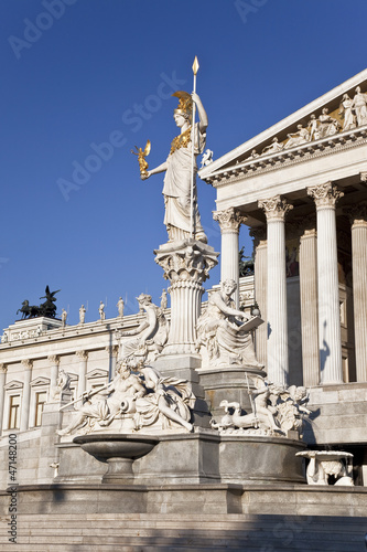 The sculptural composition near the Austrian Parliament