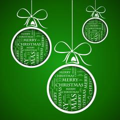 dark green merry christmas text