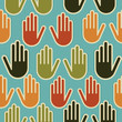 Diversity hands seamless pattern