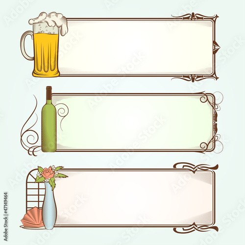 Vintage Frames for Restaurant
