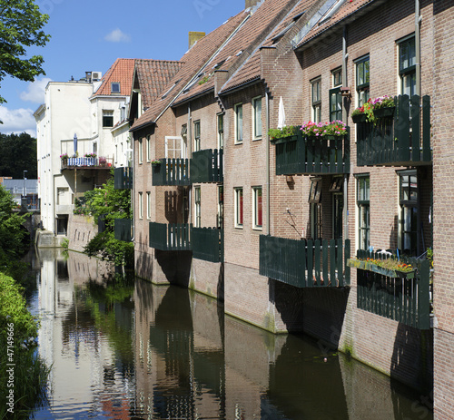 houses above a canal