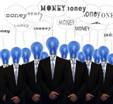group of businessmen says money
