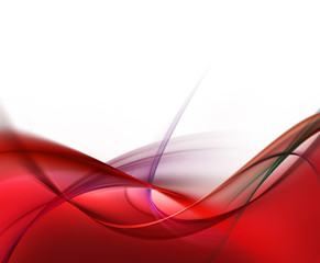 Abstract fashion red fractal waves