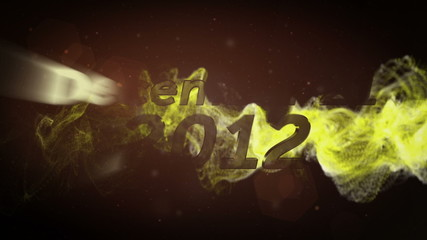 December 21 2012 Text and Particle Explosion - HD1080