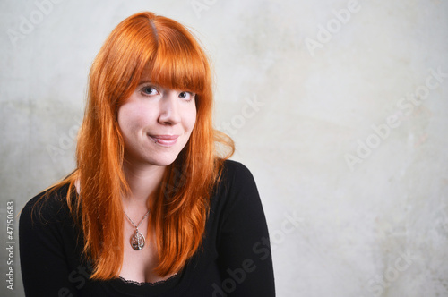 lovely smiling red Head Woman
