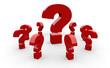 Fragen über Fragen Konzept - Rot