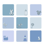 baby-boy icons set