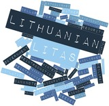 Word cloud for Lithuanian litas