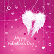 Wings of Love. Valentine's day card  angel wings.