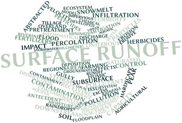 Word cloud for Surface runoff