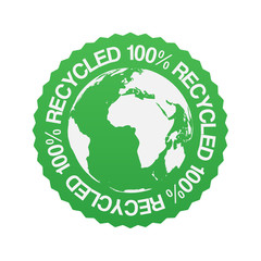 100% Recycled Sticker