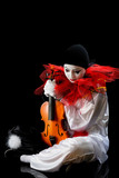 Pierrot with violin