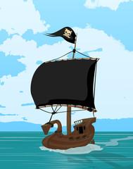 Black sails pirate ship