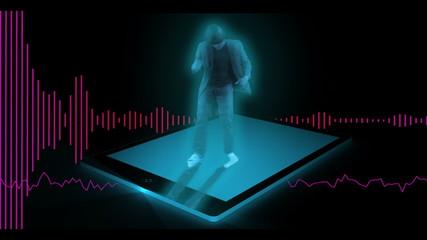 Dancer on tablet pc