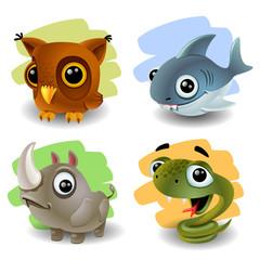 funny animals-set 2
