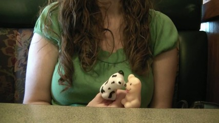 Woman Playing Finger Puppets