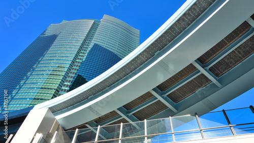 Aluminium Aan het plafond Futuristische Architektur in Tokyo