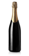 Champagne bottle isolated