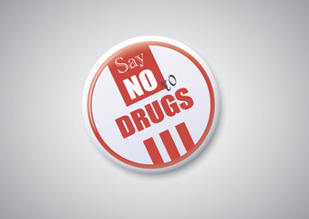 Say No To Drugs - Button Badge