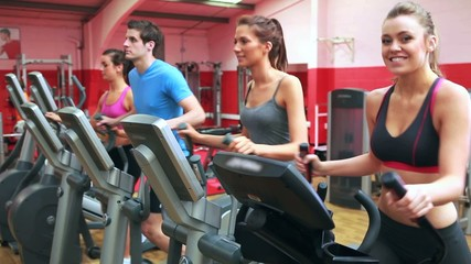 Group training on a step machine
