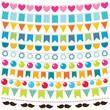 Multicolor bunting set