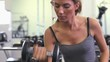 Woman lifiting a dumbbell