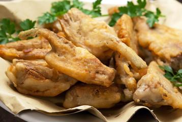 Carciofi fritti - Fried artichokes
