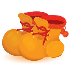 Orange boot pair vector