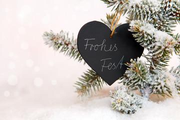 Frohes Fest Weihnachtlicher Hintergrund