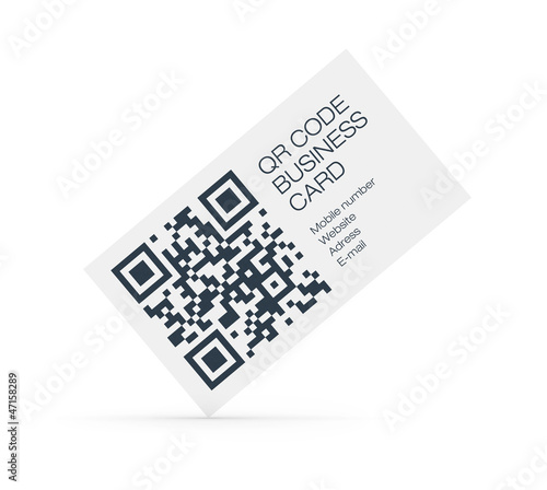 QR-Code business card concept