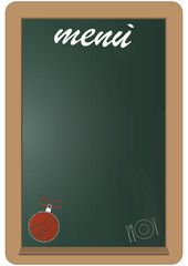christmas menu blackboard