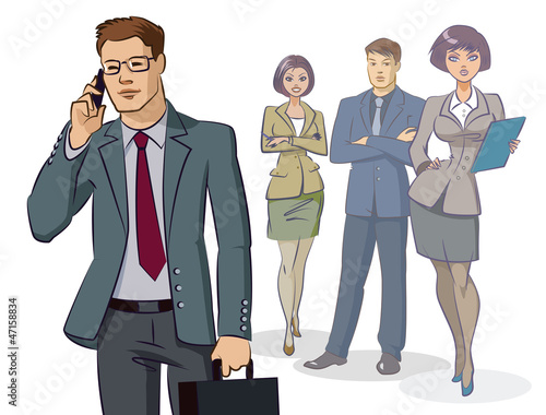 Businessman group standing