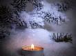 Licht im verschneiten Winterwald