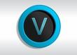 Botão com a Letra V