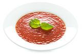 tomato soup isolated on white