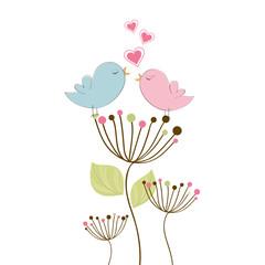 Verliebtes Vogel-Pärchen