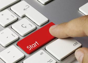 Start word keyboard key. Finger