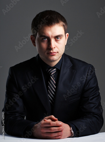businessman at the table