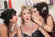 Ladies Whispering in the Hair Salon