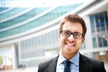 Portrait of an handsome businessman outdoor