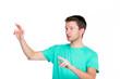 virtuell mit den fingern schieben