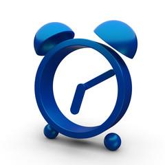 blue stylized alarm