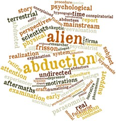 Word cloud for Alien abduction
