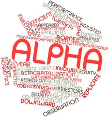 Word cloud for Alpha